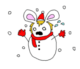 maned rabbit sticker #855072