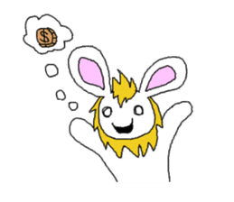 maned rabbit sticker #855073