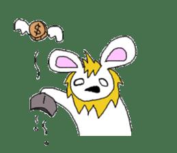 maned rabbit sticker #855074