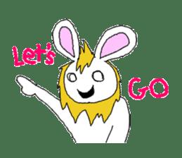 maned rabbit sticker #855075