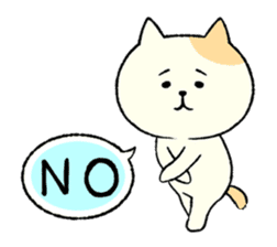 The cat is embarrassing face (simple) sticker #855200