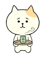 The cat is embarrassing face (simple) sticker #855201