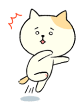The cat is embarrassing face (simple) sticker #855205