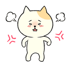 The cat is embarrassing face (simple) sticker #855206
