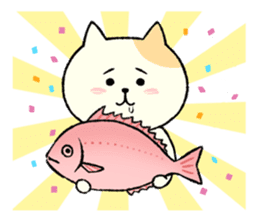 The cat is embarrassing face (simple) sticker #855211