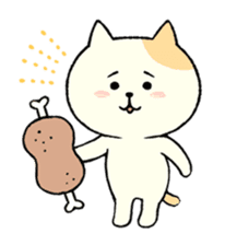 The cat is embarrassing face (simple) sticker #855212