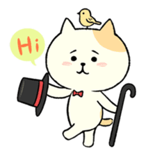 The cat is embarrassing face (simple) sticker #855220