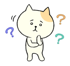 The cat is embarrassing face (simple) sticker #855222