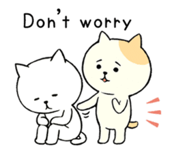 The cat is embarrassing face (simple) sticker #855227