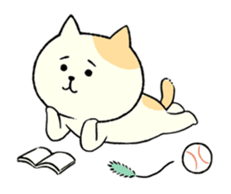 The cat is embarrassing face (simple) sticker #855229