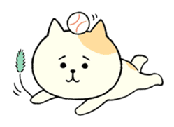 The cat is embarrassing face (simple) sticker #855230