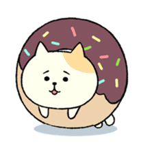 The cat is embarrassing face (simple) sticker #855232