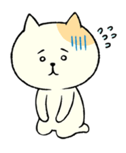 The cat is embarrassing face (simple) sticker #855238