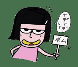Little girl in cool sticker #858561