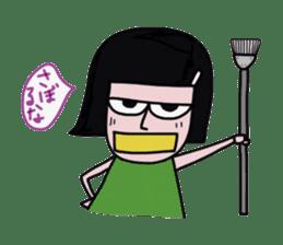 Little girl in cool sticker #858577