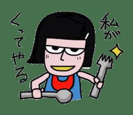 Little girl in cool sticker #858594