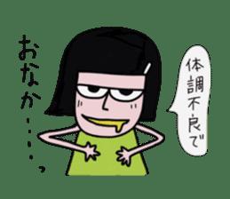 Little girl in cool sticker #858597