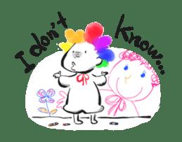 Rainbow kid sticker #860121