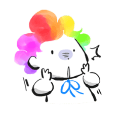 Rainbow kid sticker #860122