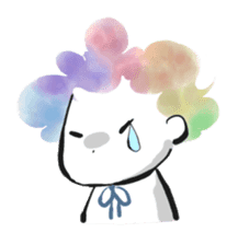 Rainbow kid sticker #860124