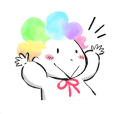 Rainbow kid sticker #860129