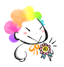 Rainbow kid sticker #860132