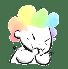 Rainbow kid sticker #860133