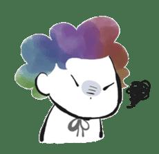 Rainbow kid sticker #860134