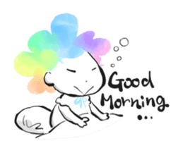 Rainbow kid sticker #860136