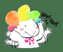 Rainbow kid sticker #860139