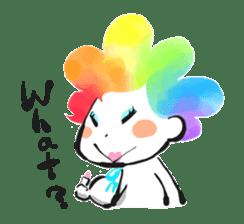Rainbow kid sticker #860153