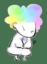 Rainbow kid sticker #860156