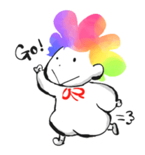 Rainbow kid sticker #860157