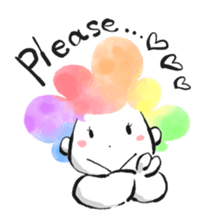 Rainbow kid sticker #860158