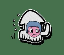 Squid girl IKAKO 13 sticker #862624
