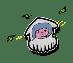 Squid girl IKAKO 13 sticker #862626