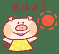 Cute pig sticker #862639