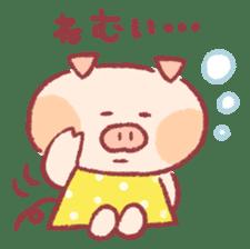 Cute pig sticker #862640
