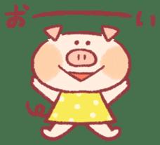 Cute pig sticker #862643