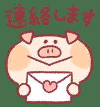 Cute pig sticker #862649
