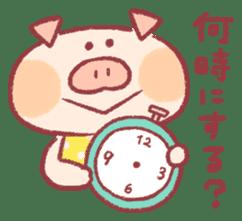 Cute pig sticker #862651