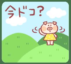 Cute pig sticker #862653