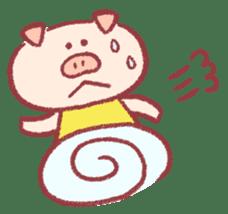Cute pig sticker #862655