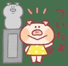 Cute pig sticker #862656