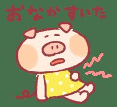Cute pig sticker #862657
