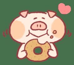 Cute pig sticker #862658