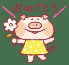 Cute pig sticker #862660