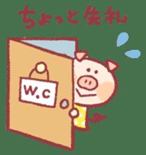 Cute pig sticker #862666