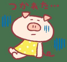 Cute pig sticker #862668