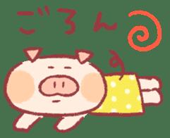 Cute pig sticker #862670